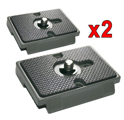 2x Quick Release Plates - Manfrotto QR 200PL-14 fitting - New lightweight design