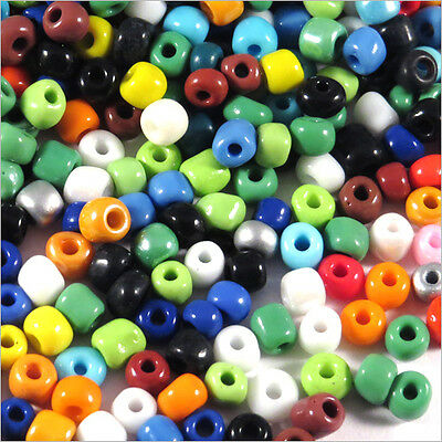 Lot Mix 1000 Perles de Rocailles en verre 4mm Opaque 100g (6/0)