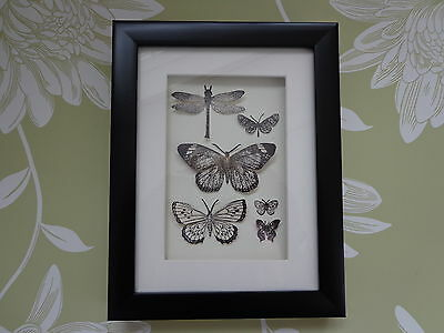 """BUTTERFLY COLLECTION"" A lovely stylish framed picture of paper Butteflies"