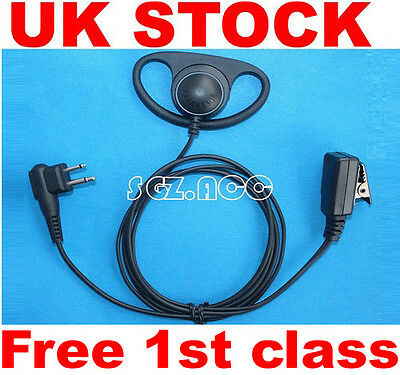 NEW! D Shape Earpiece Headset microphone for Motorola Radio CP040 CP200 GP300