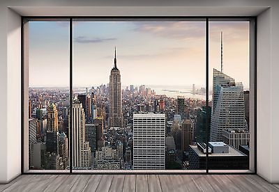 """NEW YORK CITY Wall Mural photo Wallpaper """"Penthouse"""" Large size paper wall art"""