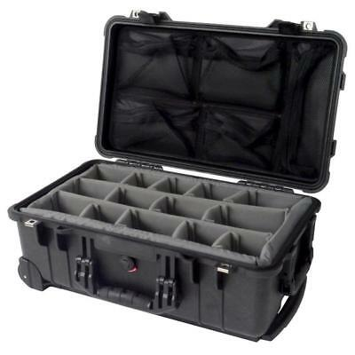 Black Pelican 1510 / 1514 With padded dividers (Grey) & 1519 Lid organizer.