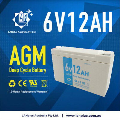 NEW 6V 12AH UPS SLA AGM Deep Cycle Rechargeable battery 6volt Solar Scooter Toy