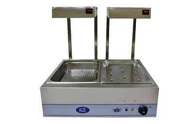 NEW special price ACE CARVERY & CHIP SCUTTLE COMBINATION WITH LIGHTS