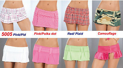 Wholesale Lot Sexy School Girl PLEATED ROLLER DANCE MICRO MINI SKIRT RAVE S M L