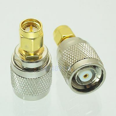 1pce Adapter RP.TNC jack male to SMA male plug RF connector straight M/M