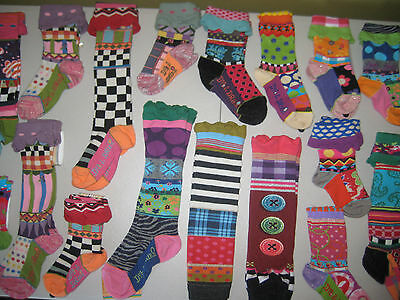 NEW Girls Dub & Drino FRANCE Knee High Ankle Socks Legwarmers Boutique Sock ART!