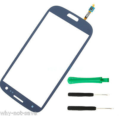 Touch Screen Glass digitizer replacement for Blue SamSung GALAXY s3 sIII i9300