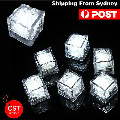 24X Sensor Bright White Ice Cube LED Party Wedding Christmas Glow in the dark