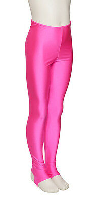 Girls Childrens Lycra Shiny Stirrup Dance Gym Ballet Leggings By Katz KDT001