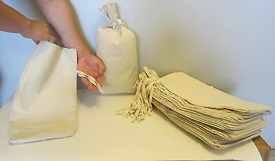 "2 Canvas Coin Bank Deposit Bag With Sewn-On Ties 9"" By 17.5"" Money Sacks Bags"