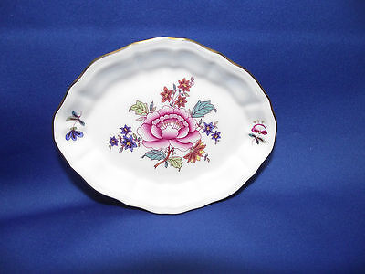 HEREND Hand Painted  pin  tray Laced With 24k Gold Beautiful New