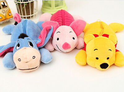 Disney Pen Pencil Case Zipper Pouch Bag_Soft & Cute Toy Pouch_Pooh/Eeyore/Piglet