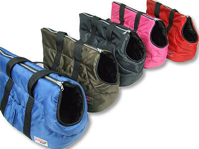 Padded Pet Carrier Bag Nylon Waterproof Travel Zip Lock Carabiner Portable Safe