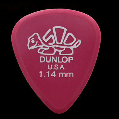 Dunlop Delrin Guitar Picks Plectrums 1.14mm Magenta - 1 2 3 4 5 6 10 12 20 24