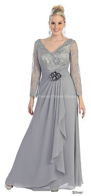 FORMAL EVENING GOWN CHURCH BANQUET MOTHER of GROOM BRIDE PLUS SIZE DRESS FUNERAL