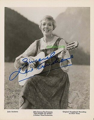 Julie Andrews, Signed 10X8 Photo,  Great Film Still Image, Looks Great Framed