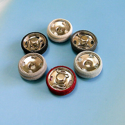 5 Metal Snap Fastener Press Stud Fabric Cover Coats Sew On Buttons 18mm 26L G150