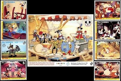 Disney's Early Goof's Stamps & Souvenir Sheet Gambia # 1293-1301 MNH