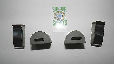 Gp And Series 3  Grey Side Panel Buffers & Stainless  Steel Clips. For Lambretta
