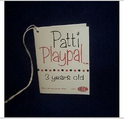 For Patti Playpal Hang Tag