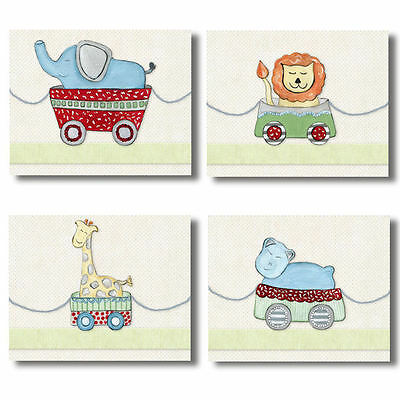 Circus Safari Jungle Animals neutral WALL ART FOR NURSERY decor for baby's room