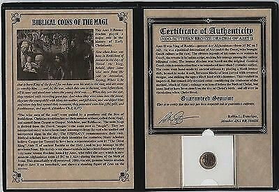 Bronze Biblical Coin of the Magi. Azes II. With COA