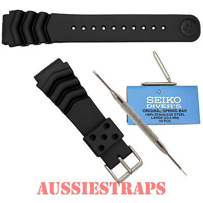 SEIKO Z22 + FAT Springbars + Spring Bar Tool Rubber Divers Watch Band Strap 22mm