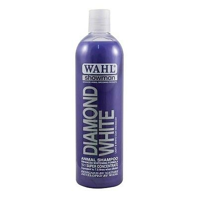 Wahl Showman Diamond White Colour Enhancing Shampoo Concentrated  5ltr or 500ml