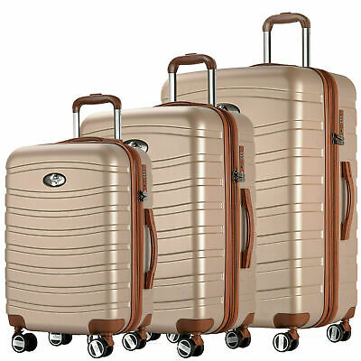 REISEKOFFER SET 4 tlg. TROLLEY KOFFER 4 SET  XL L M KOFFERSET BEATY CASE Schamp