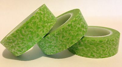 Washi Tape Green Vine 15Mm X 10 Mtr Planner Scrap Craft Wrap Mail Art