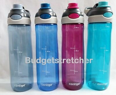 Avex Contigo Water Bottle 24oz Autoseal with Straw. Spill Proof Camping Hiking