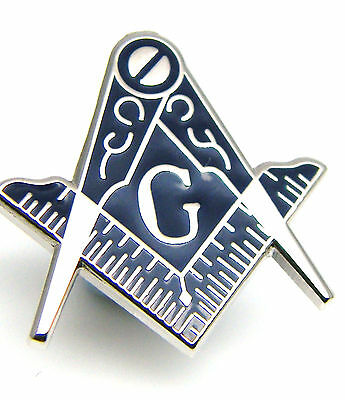Masonic Craft Square And Compass Regalia Lapel Pin Badge In Free Gift Pouch