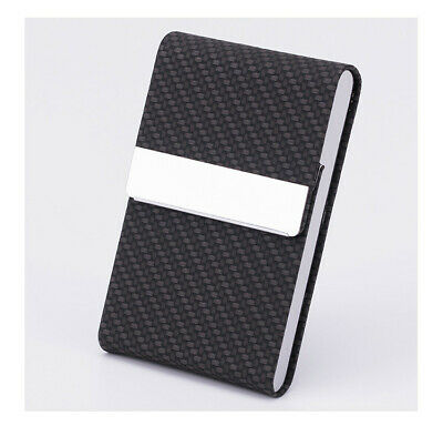 Business Card Holder Case Cover Leather Magnetic Open Man Woman Fashion Gift C2