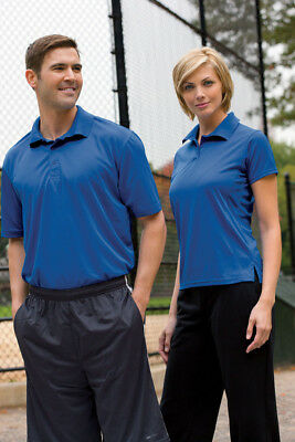 12 Custom Logo Embroidered Poly tech Performance Athletic Polo Shirt  $20.50 Ea.