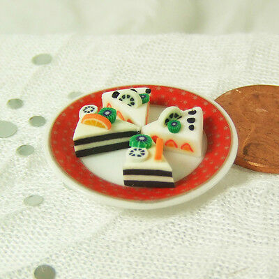 "1"" scale Dollhouse Miniature 1:12 - Miniature Food 4 Cake Cuts Slices 2"
