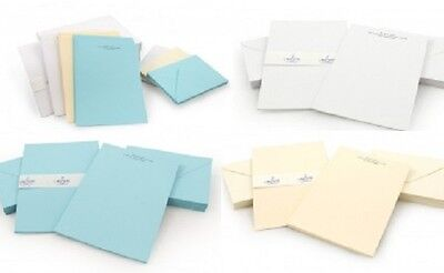 Personalised address Writing Paper Stationary set and envelopes cream  white