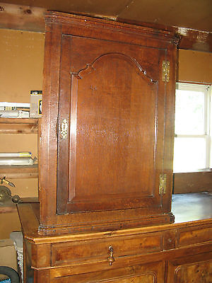 #61227 Antique oak hanging corner cupboard c1760