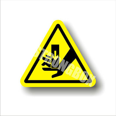 Industrial Safety Decal Sticker caution PINCH POINT - MOVING PARTS warning label