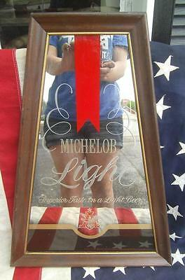Vintage 1978 Michelob Light Beer Mirror A-Frame Annheuser Bush Advertising Sign
