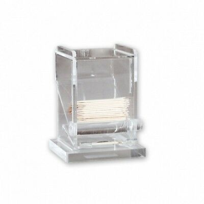 Toothpick Dispenser Clear Acrylic Tooth Pick Holder Container Bar Counter NEW
