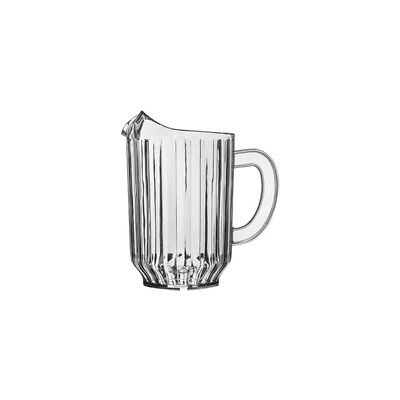 12x Jug / Pitcher, Clear High Quality SAN Plastic, 1L, Water / Beer / Soft Drink