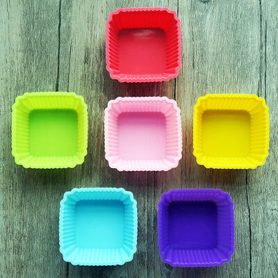 square silicone baking mold mould cup cake muffin jelly dessert chocolate soap