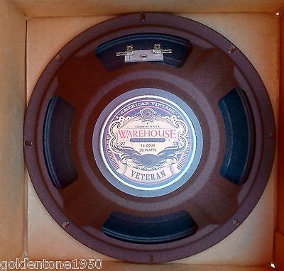"Wgs Veteran 10 - 10"" 20 W 16 Ohm Guitar Speaker Made In The Usa 3 Year Warranty"