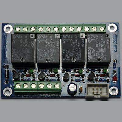 12V General purpose 4 channel relay card/board - OMRON Relays