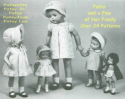 For Patsy & Family Dolls -   Over 24 Patterns Booklet