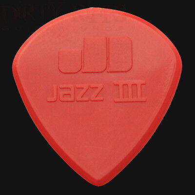 Dunlop Nylon Jazz III Guitar Picks - 1.38mm Red - 1 2 3 4 5 6 10 12 20 24 36
