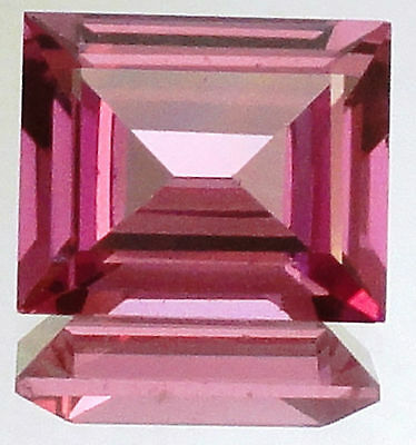 Rose Synthetic Sapphire Rectangle Gemstone 6.25 Cts