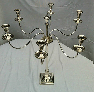 Crichton Brothers / Crichton & Co  Antique Solid Silver candelabra. 20 pounds.