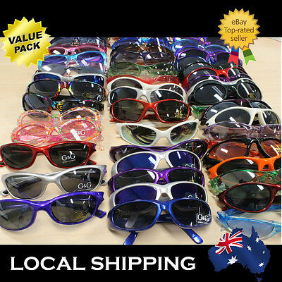 Kids Sunglasses Sunnies 10 20 30 Wholesale Birthday Party Pack Cheap Mix Colour